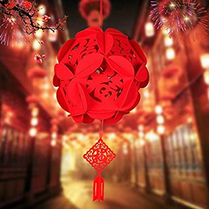 amazon com 2 piece cicy red chinese lanterns decorations for