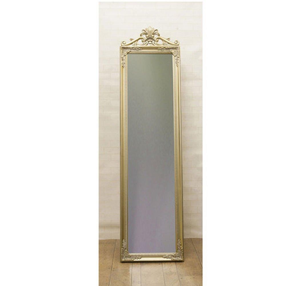 鏡 アンティーク調 チャーチルウッド フルレングスミラー クレスト:int-ak-cm16-140cyj (ゴールド) B01CDUO5QE ゴールド ゴールド