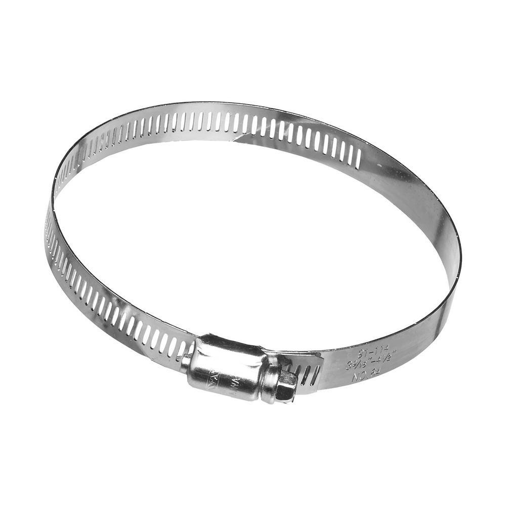 Stainless Steel 0.5 Minimum Clamping Diameter 1.06 Maximum Clamping Diameter Tompkins WGC-10 Worm Gear Clamp 0.5 Minimum Clamping Diameter 1.06 Maximum Clamping Diameter