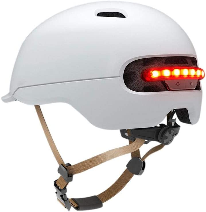 Knowled Cascos de Ciclismo Multiuso Inteligente LED de Advertencia Flash Casco IPX4 Impermeable Protector Casco para Xiaomi M365 Scooter eléctrico, Adultos Unisex
