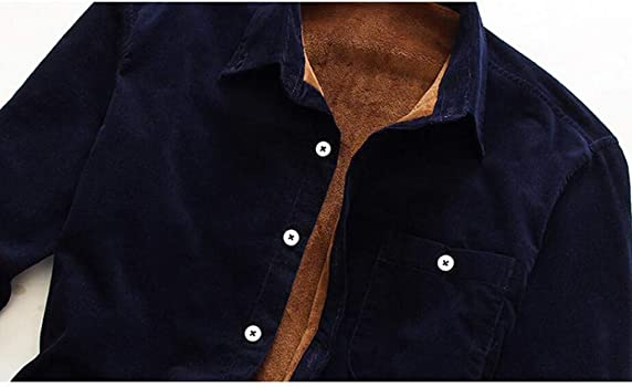 waotier Chaquetas para Hombre Cazadora Breve Estilo Pana Color sólido Forro de Pelusa Cálido Casual Camisas Chaquetas de Manga Larga Blusa Top: Amazon.es: Ropa y accesorios