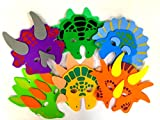 Playscene 1 Dozen Foam Dinosaur Masks, Party Favors for Children (12 Dinosaur Masks)