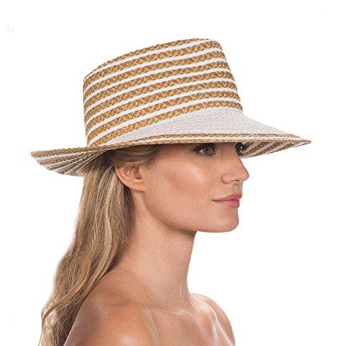 Eric Javits Luxury Fashion Designer Women's Headwear Hat - Birdie - White Mix by Eric Javits