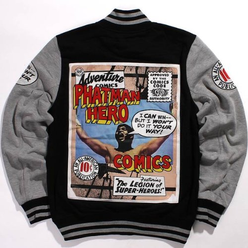 phat-farm-mens-comic-marvel-fleece-bomber-baseball-varsity-jacket-2xl-black