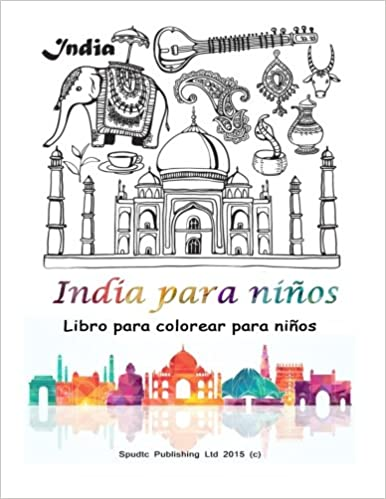 India para niños: Libro para colorear para niños: Amazon.es: Spudtc ...