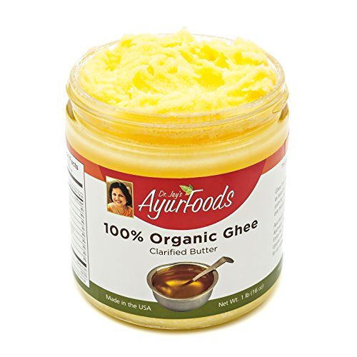 Dr. Jay's 100% Organic Ghee (Grass Fed), 1 Pound Jar, BEST Clarified Butter Artisan Crafted in Small Batches, Pure Non-GMO Ingredients, Tasty Healthy Oil for Paleo, Ayurvedic & Gluten-FREE Cooking by Dr. Jay's Ayurfoods (Image #1)