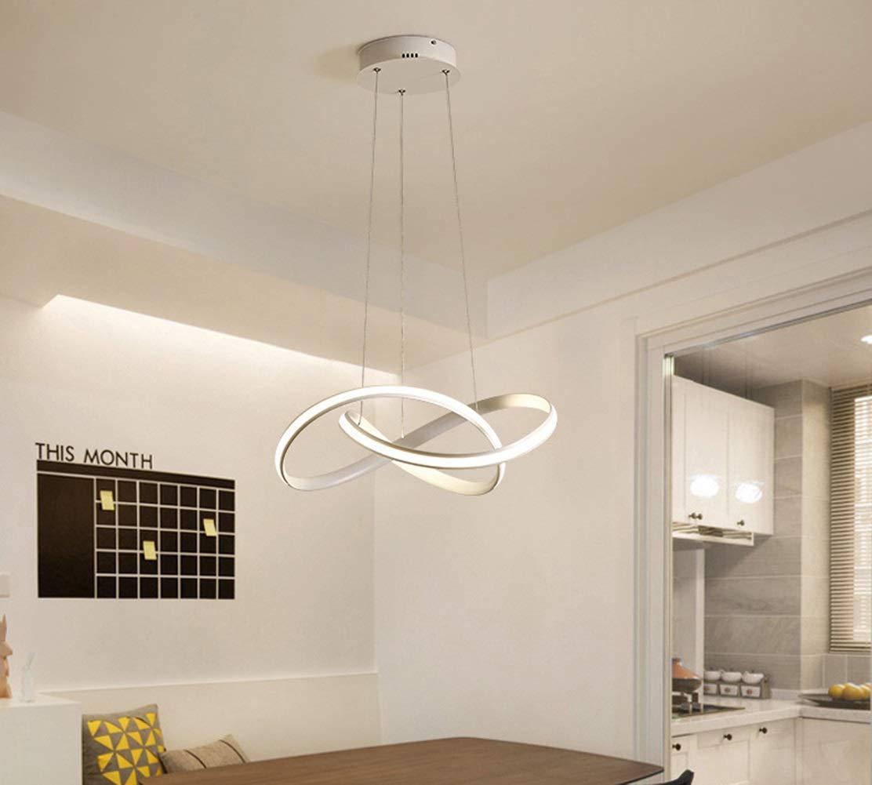 Kronleuchter LED Acryl Pendelleuchten Wohnzimmer Kronleuchter Deckenlampe Kristall Esszimmer Schlafzimmer Chandeliers-White