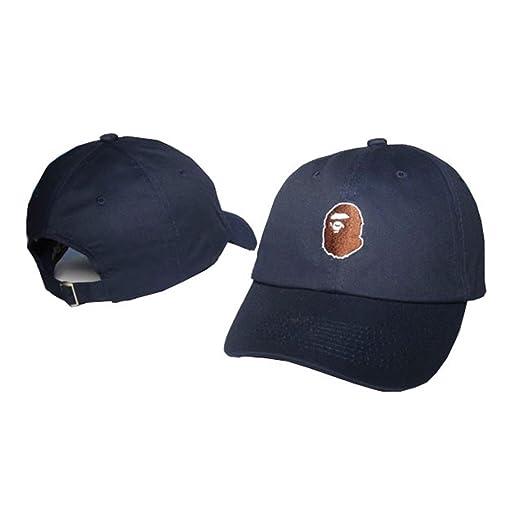 Isymeotu-PP Unisex Adjustable Fashion Leisure Baseball Hat BAPE Snapback  Dual Colour Cap at Amazon Men s Clothing store  0a663499f35