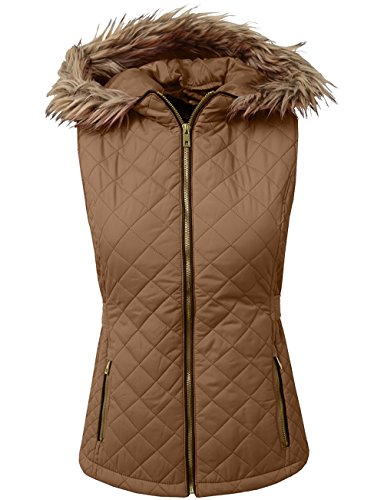 (BEKDO Womens Lightweight Quilted Puffer Padded Vest Jacket With)