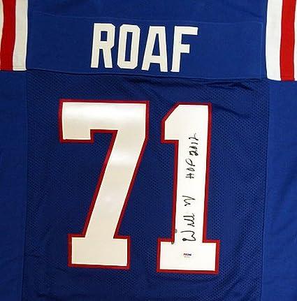 cheap for discount a5e14 279e0 Amazon.com: Louisiana Tech Bulldogs Willie Roaf Signed Blue ...