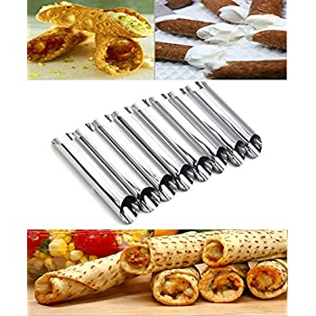 amazoncom norpro 3660 stainless steel cannoli forms set