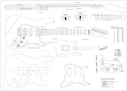 Planes – Fender Stratocaster HSS escala completa para guitarra ...