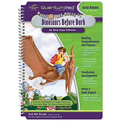 Quantum Pad Learning System: Magic Tree House - Dinosaurs Before Dark Interactive Book and Cartridge: Toys & Games
