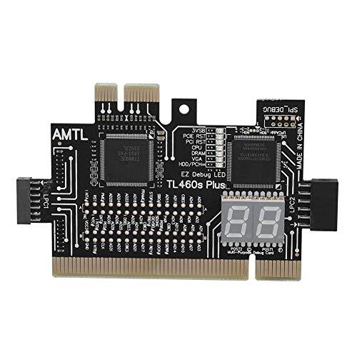 fosa Motherboard PCI/PCIE/Mini PCIE/LPC PC Analyzer Diagnostic Card, Display Power PCU Memory Graphics Card Hard Disk Status