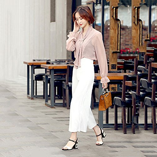pour Beige Fashion DKFJKI Sandales Boutons Talons Cuir Robes Hauts Soirée Femmes de Open Toe Chaussures en vZxwZqTE