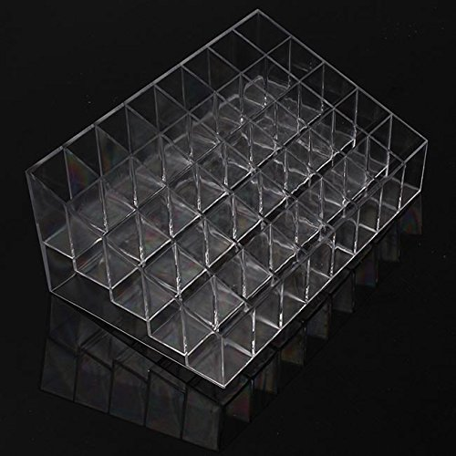 Hengsong 40 Posti Cosmetic Organizer Trapezoidale Lipstick Rossetto Stand 19X11.7X8cm mei_mei9