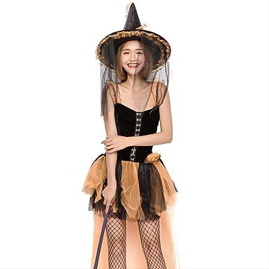 LBHHH Disfraz de Bruja Peor de Halloween, Disfraz de Malla de ...