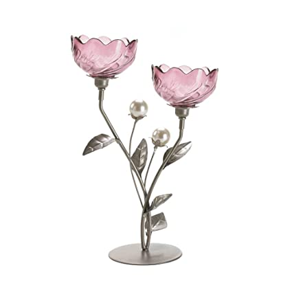 Amazon com: Koehler Home Décor Mulberry Blooms Candleholder