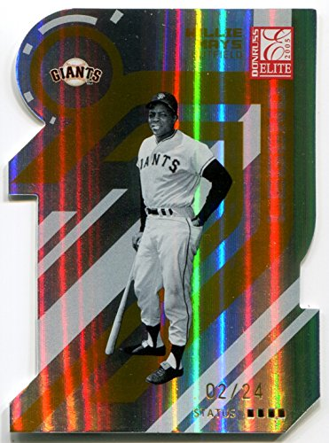 2005 Donruss Elite Gold Status Parallel WILLIE MAYS Rare Die Cut Card Serial Numbered #2/24 HOF SP New York / San Francisco Giants 1979 Hall of Fame Member (Willie Gloves Mays Gold)