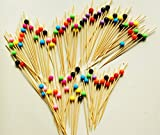 "ReaLegend 4.7"" Cocktail Sticks Party Frilled Toothpicks, Sandwich, Appetizer, Cocktail Picks Party Supplies Plates Picks 100 Count - Multicolor Ball"