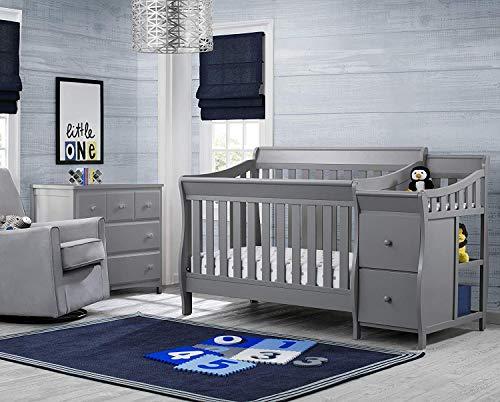 5115YECbiqL - Delta Children Bentley S Convertible Crib And Changer, Grey
