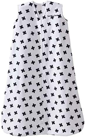 Halo Sleepsack, Micro-fleece, Tossed Plus Signs, Black/White, Large