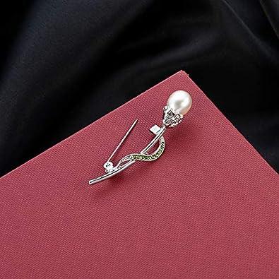 Femme Broches De Mode /Él/égant en Argent Fleur Perle Broche Couvert /Écharpes Ch/âle Clip pour Les Femmes des Bijoux Bijoux Vi.yo