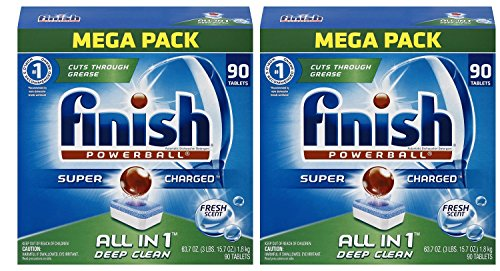 Finish All in 1 Powerball Mega Pack xuGdyH - 90 Count (2 Pack)