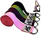 Sukhi Yoga Super Soft Yoga Strap with D-Ring, Perfect for Stretching, Holding Poses, Improving...