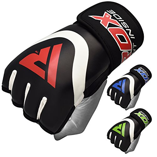 Leather Wrap Mma Gloves - RDX Hand Wraps Boxing Inner Gel Gloves under MMA Fist knuckle Protector Muay Thai Fist Bandages Maya Hide leather Padded Mitts