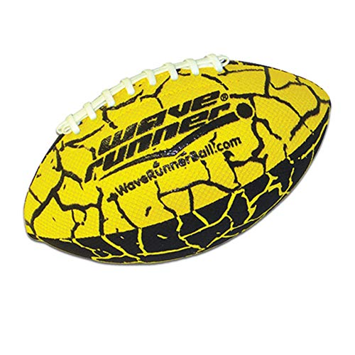 Wave Runner Grip It Waterproof Football- Size 9.25 Inches with Sure-Grip Technology | Let