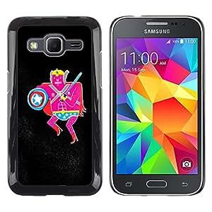 MOBMART Carcasa Funda Case Cover Armor Shell PARA Samsung Galaxy Core Prime - The Pink Warrior