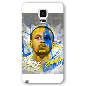 UniqueBox - Customized White Frosted Samsung Galaxy Note 4 Case, NBA Golden State Warriors Superstar Stephen Curry Samsung Galaxy Note 4 Case by Maris's Diary