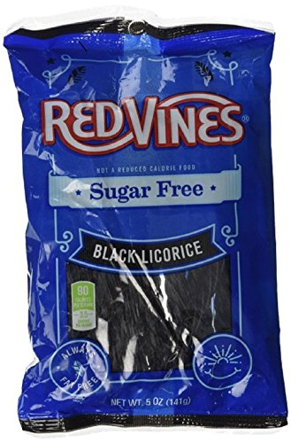 American Licorice Sugar Free Black Licorice Vines, 1 bag (5 oz)