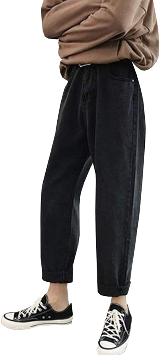 Feellway メンズ ワイドパンツ ジーンズ ストレートパンツ 春秋 デニムパンツ 9分丈 C0199
