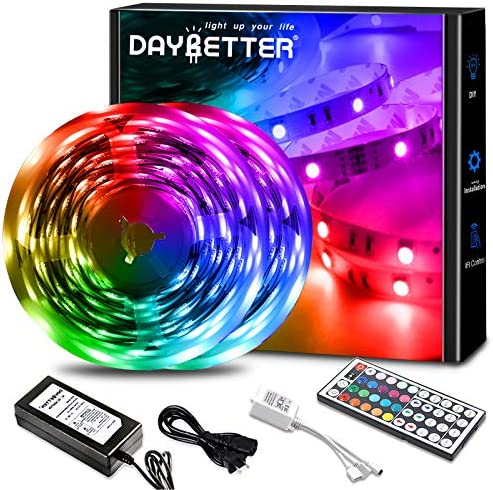 Daybetter Led Lights 32.8ft Color Changing Lights Strips for Bedroom, Ceiling, Home Decoration