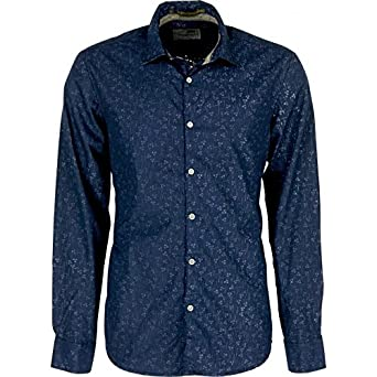 No Excess - CAMISA NO EXCESS MANGA LARGA ESTAMPADA - NAVY, XL