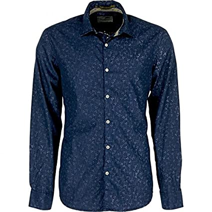Amazon.com: No Excess - CAMISA NO EXCESS MANGA LARGA ESTAMPADA - NAVY, XL: Clothing