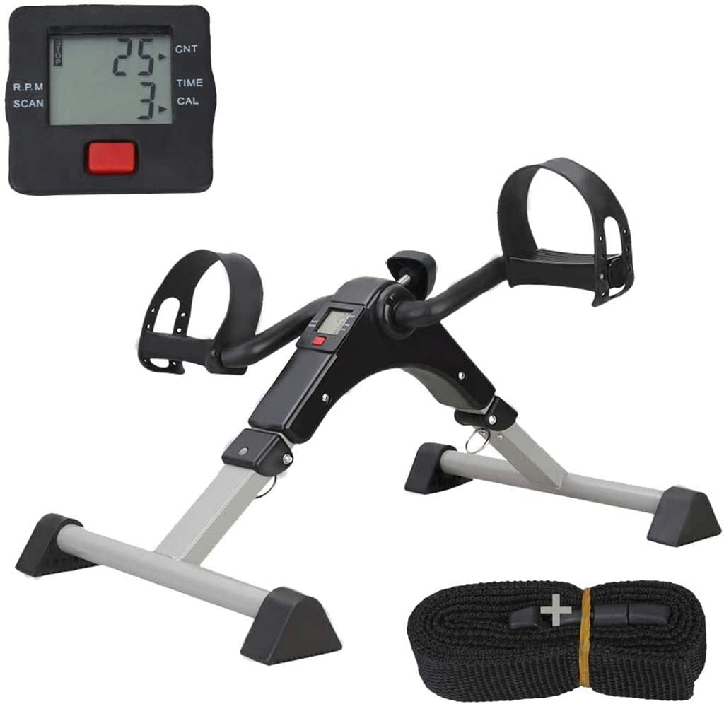 Details about  /Pedal Exerciser Arm Leg Exercise Fitness Stepper Workout Machine Gym Bike USA
