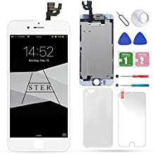 Full Assembly LCD Touch Screen Replacement Set for 4.7 iPhone 6 (Touch Digitizer Assembly + Facing Proximity Sensor + Ear Speaker + Front Camera + Repair Tools) White