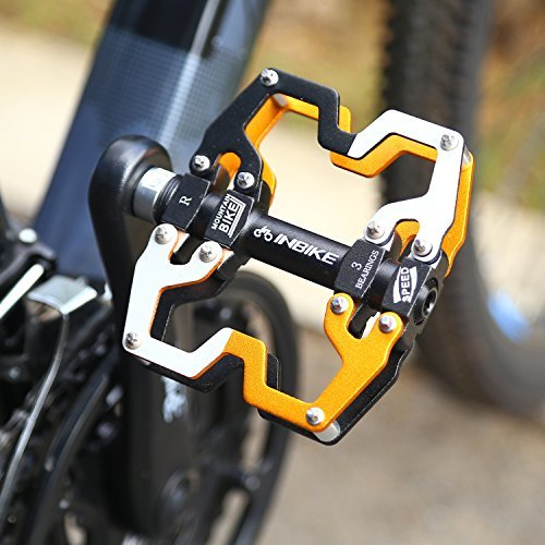 INBIKE Bicycle Pedal, Alloy Body Three Sealed Bearing Cycling MTB Pedals