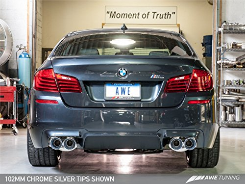 AWE Tuning 3015-42062 BMW F10 M5 Touring Edition Axle Back Exhaust (, Chrome Silver Tips) ()