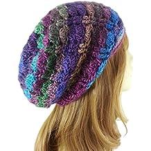 Slouchy Beanie Hat for Women Multicolor Lightweight Boho Handmade USA