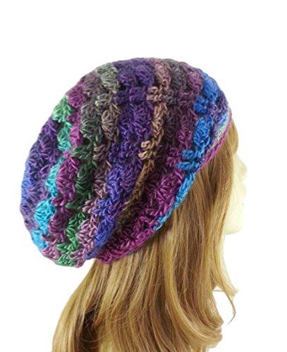 e35ed9066 Slouchy Beanie Hat for Women Multicolor Lightweight Boho Handmade USA