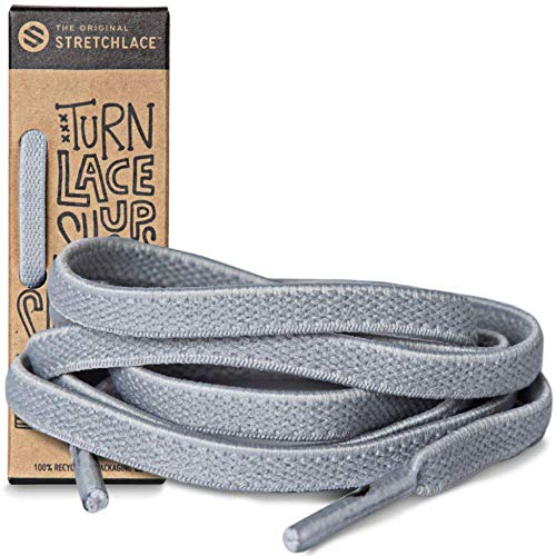 (The Original Stretchlace | Elastic Shoe Laces | Flat Stretch Shoelaces (55 Inch | X-Large, Light)