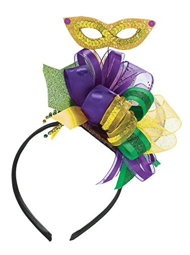 [Amscam Mardi Gras Bow Headband with Ribbon, Multicolor] (Mardi Gras Hats)