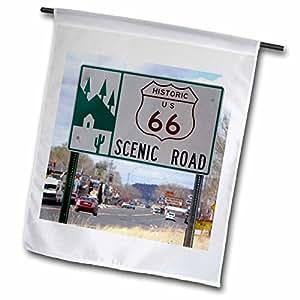 Danita Delimont - Route 66 - Road sign, Historic U.S. Route 66, Arizona - US03 DFR0035 - David R. Frazier - 18 x 27 inch Garden Flag (fl_87842_2)