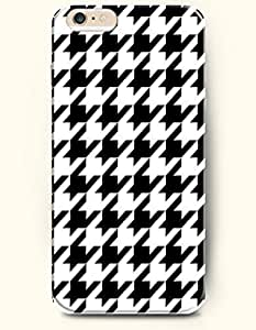 HOUNDSTOOTH- SevenArc Case for Apple iPhone 6 (4.7inch) - Black White Classic Houndstooth