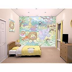 Walltastic WT40595 Baby Jungle Safari Wall Mural