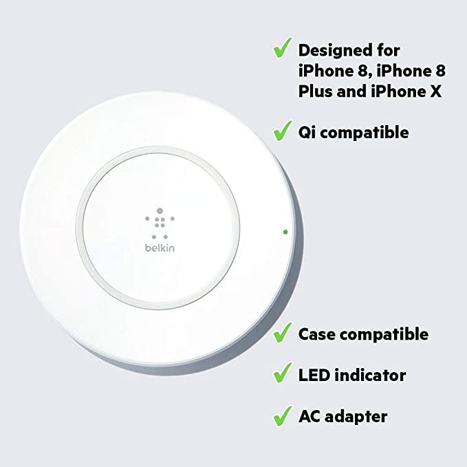Amazon.com: Belkin Boost Up Wireless Charging Pad 7.5W ...